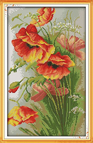 Poppy cross stitch